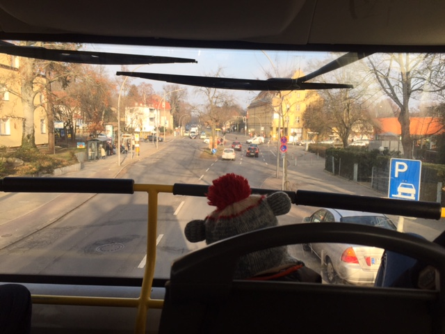 Pole Position im Doppeldecker-Bus